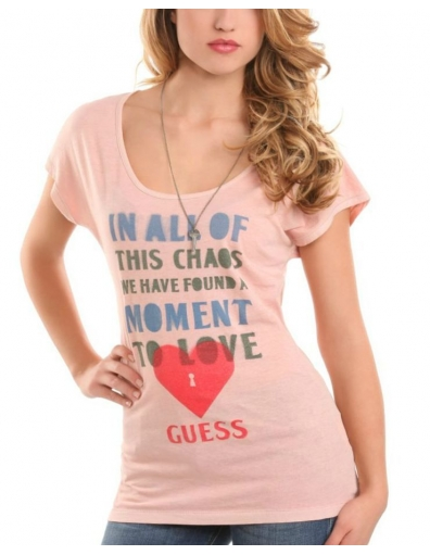 Guess - Love Tee - Roze/Pink