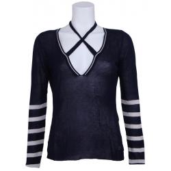 Longsleeve driehoek Amy Gee Shirts en tops Blauw