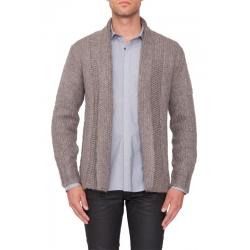 Knitted cardigan shawl color - Antony Morato - Truien en vesten - Bruin
