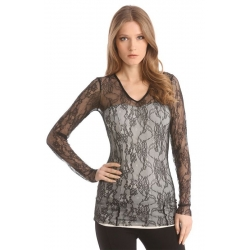 LARA KNIT TOP - Guess - Shirts en tops - Zwart