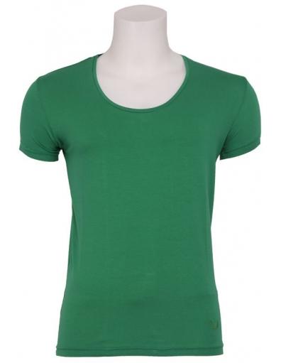 Stuart - Wide O-neck T-shirt green - Zumo - Basics - T-shirts - Groen