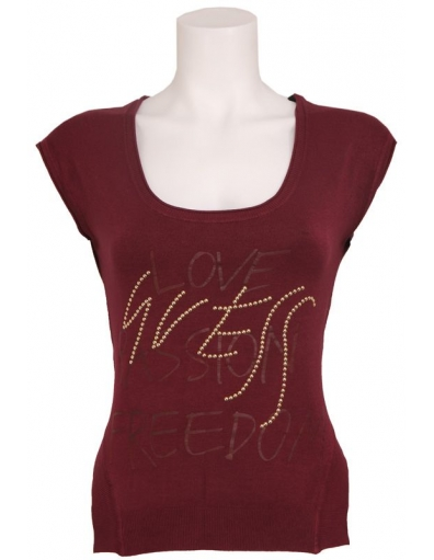 SS BN ANNABELLE SWTR - Guess - T-shirts - Rood