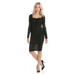 VEDETTE DRESS - Guess - Jurken - Zwart