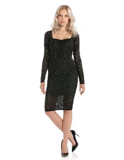 VEDETTE DRESS - Guess - Jurken - Zwart