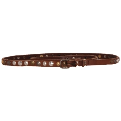 D192 SAREA LEATHER BELT - Guess - Accessoires - Bruin