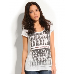 SS RN DYNAMITE TEE - Guess - T-shirts - Wit
