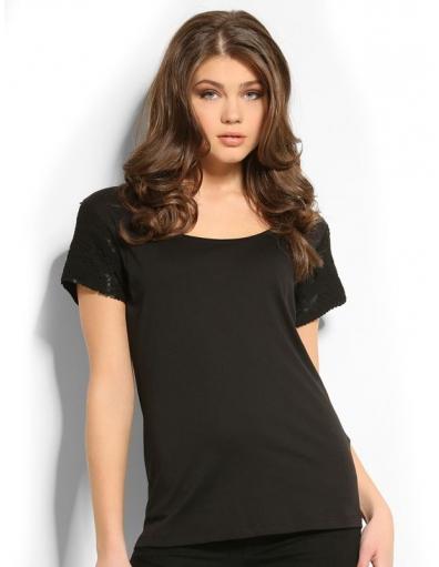 9996 MARICE KNIT TOP - Guess - T-shirts - Zwart