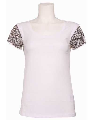 000 MARICE KNIT TOP - Guess - T-shirts - Wit