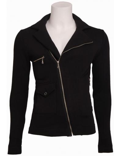 April - Sweat Jacket - Zumo - Truien & Vesten - Zwart