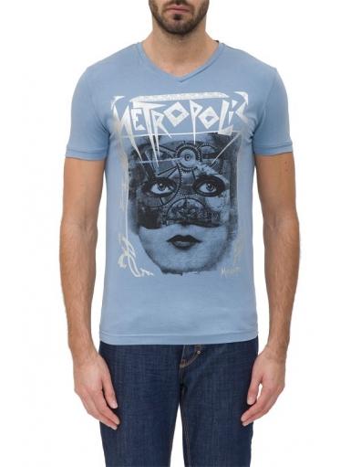 7024 METROPOLIS - Antony Morato - T-shirts - Blauw