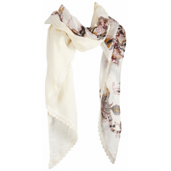Dept Shawl Boho Crinkle Off White