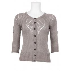 Dept vest Knitted cardigan stone