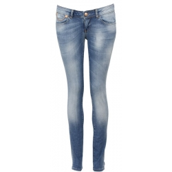 Jeans Amy Gee - Mustaches stretch - blauw