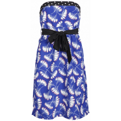 Dept strapless jurk Whirling Flow Blauw