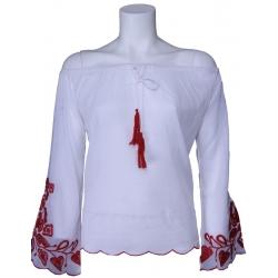 Blouse Phard - Blusa Madukar - wit - rood