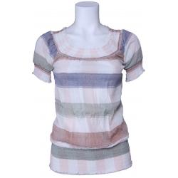 Dept shirt - gestreept - Whisper white
